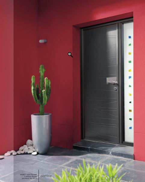 Porte entrée design